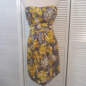 Trixxi strapless floral sundress sz 7 *D7